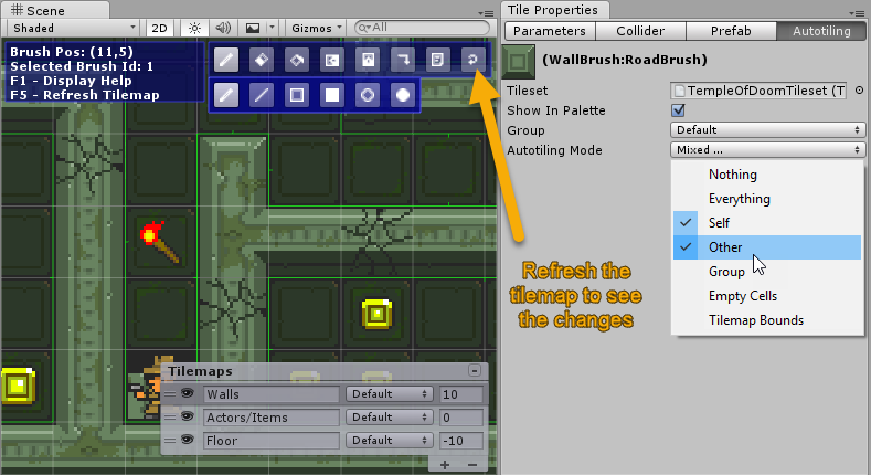 Creating a simple game with Super Tilemap Editor: Temple of